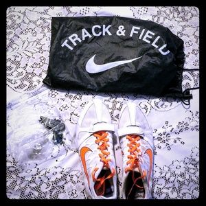 Nike Track Shoes 🧡💜 Mens Size 12.5